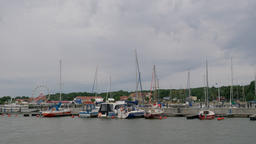 Krynica Morska seaside town, Poland. Yacht wharf and port Live Action