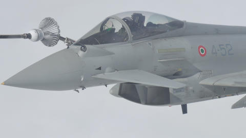 Fighter Aircraft in Flight Refueling Live Action