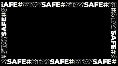 Hashtag STAYSAFE Typography Frame Overlay Animation