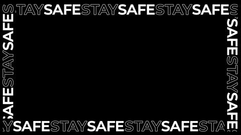 Morphing Words STAY SAFE - Animated Typography Border Overlay CG動画