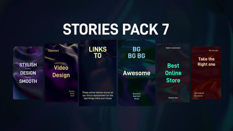 Stories Pack 7 Plantillas de Motion Graphics