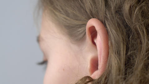 Ear of young girl Live Action