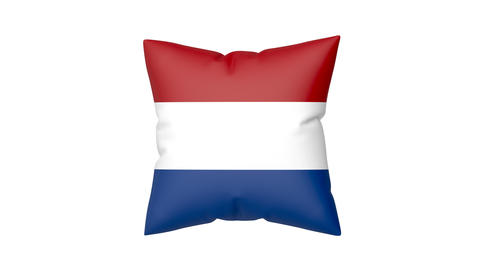 Pillow with the flag of the Netherlands Animation