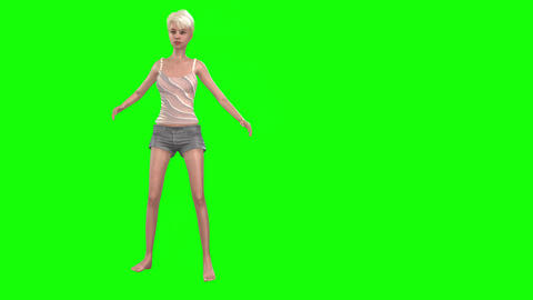 733 4k 3d animated AVATAR young girl with anorexia tries to battle with her problem Animation