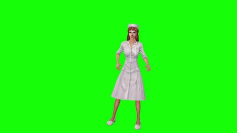 731 4k 3d animated avatar nurse teaches patiences how streathen body Animation