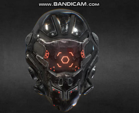 Cyber helmet Game ready Modelo 3D
