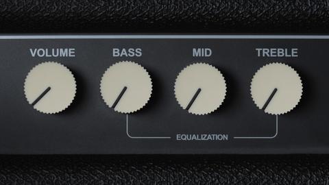 Vintage Guitar Amplifier Controls Animation