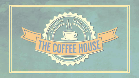 the coffee house brochure cover presentation for premium quality product with soft icon on velvety Animation