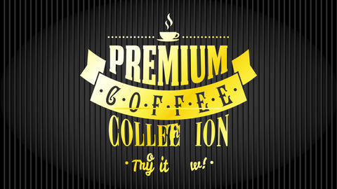 coffee trademark specialty arabica roasted beans collection art for passionate caffeine lovers with Animation