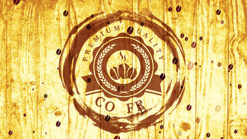 delicious beverage aesthetic cafe buying with tan coffee grunge surrounding burning beans visual Animation