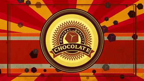 trademark plan for original quality brown with delicious gourmet parts with classical lettering and Animation