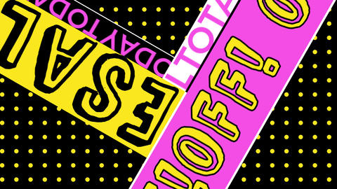 Pop Art Typography Sale Stories, vertical loop video GIF
