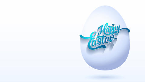 original satisfied easter greeting cardboard with blue calligraphy taking tied towards white digital Animation