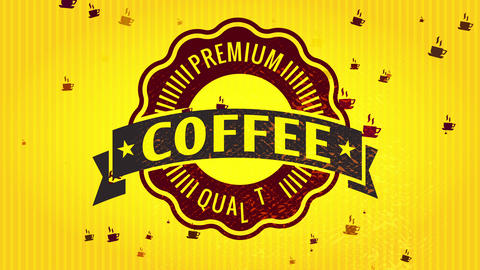 premium value coffee product wrap covering for tiny experimental samples with gold patterned Animation