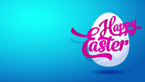 satisfied easter ecard for website invite with realistic eggshell graphical and colourful Animation