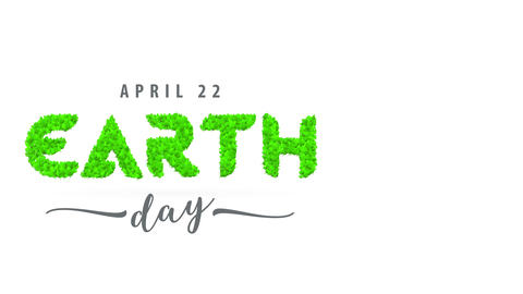 earth day april 22 vacation purchase towards encourage people to take effort and end consuming Animation