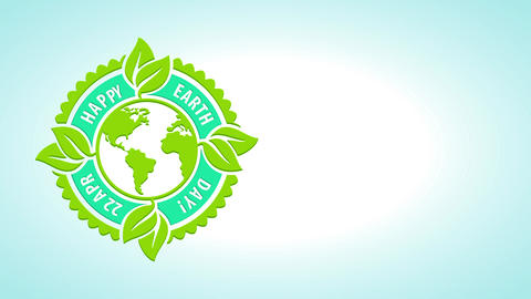 laughing earth day festivity mark for natural resources saving and renewable energy creation for Animation