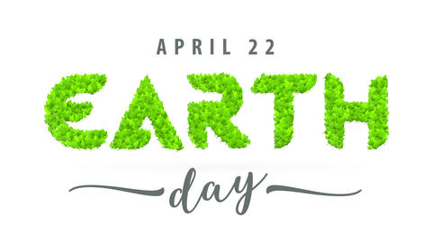earth day april 22 holiday marketing to encourage people to take action and stop consuming plastic Animation