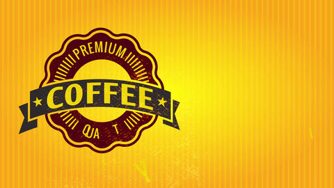 premium quality coffee product wrap covering for small testing samples with gold striped background Animation