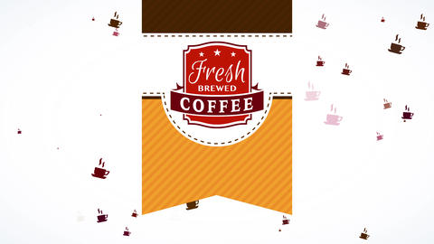 parcel ribbon pattern for fresh brewed coffee product from highly renowned cafe tavern with striped Animation