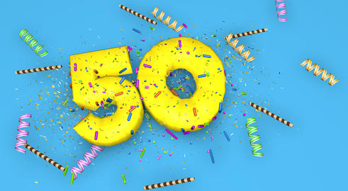 Number 50 for birthday, anniversary or promotion, in thick yello Fotografía
