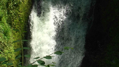 Argentina Iguazu Falls closeup of small rivulet, a small... Stock Video Footage