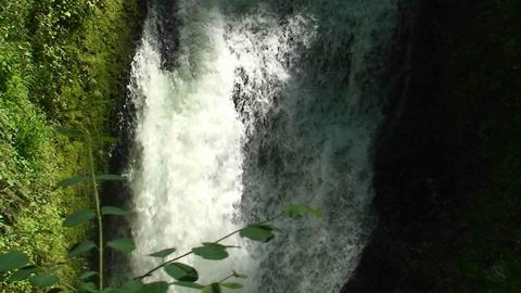 Argentina Iguazu Falls closeup of small rivulet, a small... Stock Video Footage