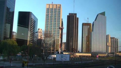 Skyline of Buenos Aires from harbor Footage