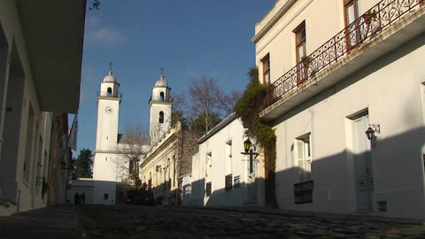 Historic Colonia, Uruguay cityscape Stock Video Footage