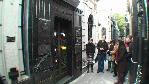 Buenos Aires, Eva Peron, grave Stock Video Footage