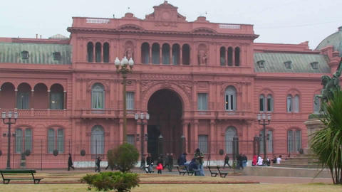 La Casa Rosada (Spanish for 'The Pink House'), Buenos... Stock Video Footage