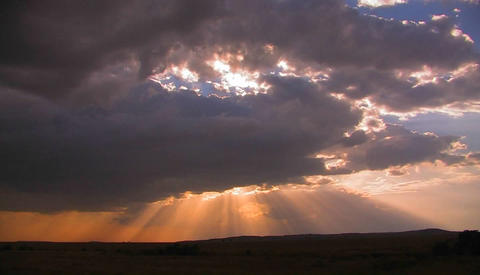 Beautiful sunset Stock Video Footage