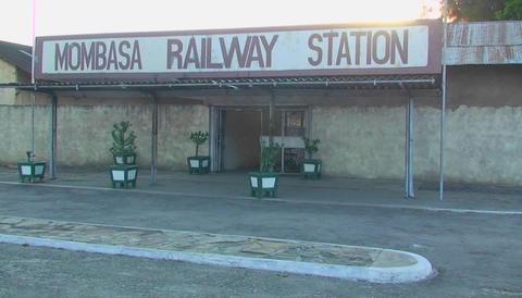 Mombasa railway station Stock Video Footage