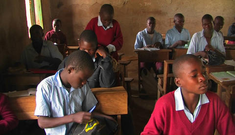 Children sitting in a classroom Stock Video Footage