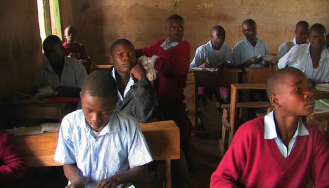 Children sitting in a classroom Footage