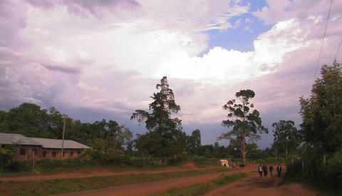 African rural village Stock Video Footage