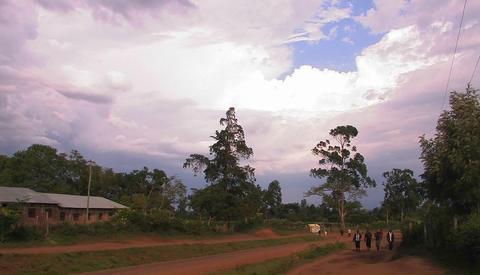African rural village Footage
