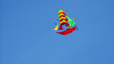 kite in sky Stock Video Footage