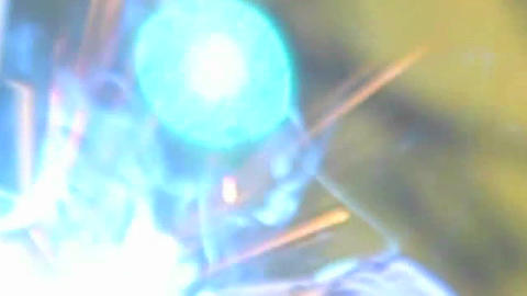 An abstract shot of welding with sparks flying Stock Video Footage