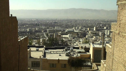 A cityscape in Iran Stock Video Footage