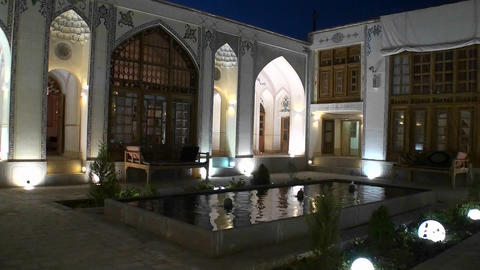 Interior of a building displaying traditional Islamic... Stock Video Footage