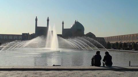 Naqsh-e Jahan Square in Isfahan, Iran Stock Video Footage