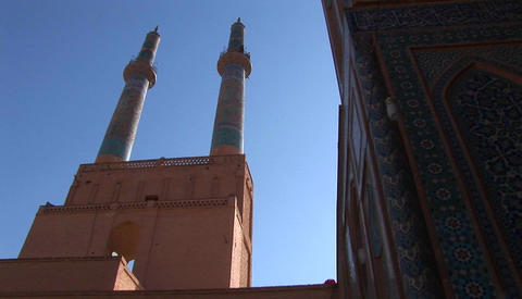 The Shah Mosque on Naqsh-e Jahan Square in Isfahan, Iran Stock Video Footage
