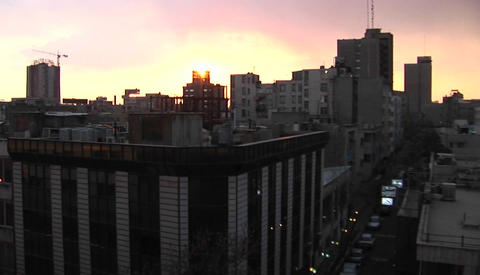 The city of Tehran, Iran in waning light Stock Video Footage