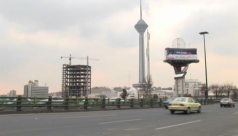 Milad Tower in Tehran, Iran Stock Video Footage