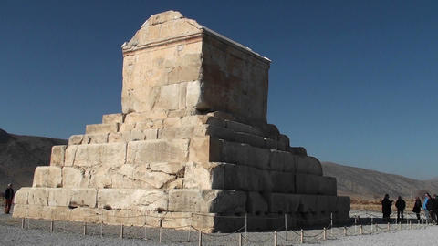 The tomb of Cyrus the Great Stock Video Footage