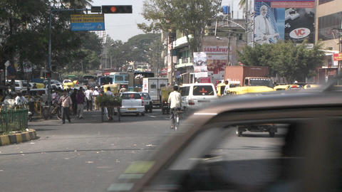 Hectic traffic in a city in India Footage