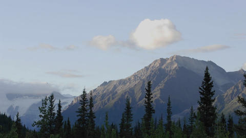 Time lapse of sunset and clouds on the Wrangell Mountains... Stock Video Footage
