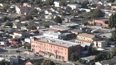 Zoom out from above the urban area on Ventura Avenue in... Stock Video Footage