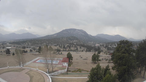 Time lapse of clouds and snow in Rocky Mountain National... Stock Video Footage
